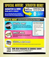Riteway's new printing capabilities with Variable Data Printing for promotional flyers
